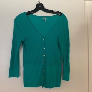 Old navy teal cardigan - small